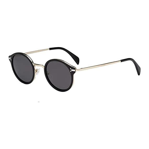45d153aa96e Celine 41082 s ANW BN Black Gold 41082s Round Sunglasses Lens Category 3  Size  Amazon.co.uk  Clothing