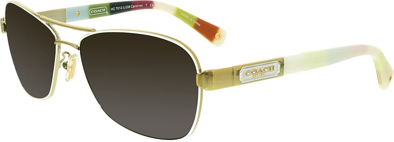 c339088e0bd9 ... buy coach womens gradient caroline hc7012 9168t5 56 white oval sunglasses  coach amazon luggage bags 73717