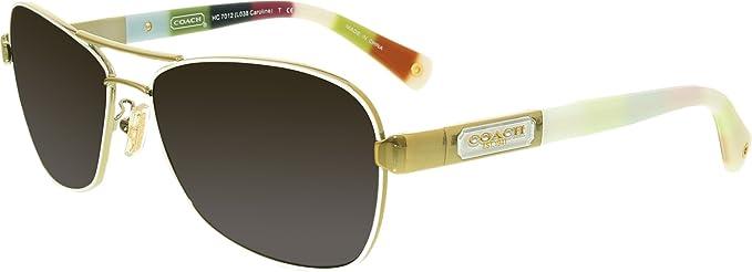 d616130280227 germany coach hc 7012 sunglasses 9168t5 gold white legacy stripe 56 14 130  ad1a2 af156