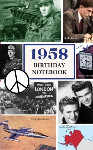 1958 Birthday Notebook: a great alternative to a birthday card