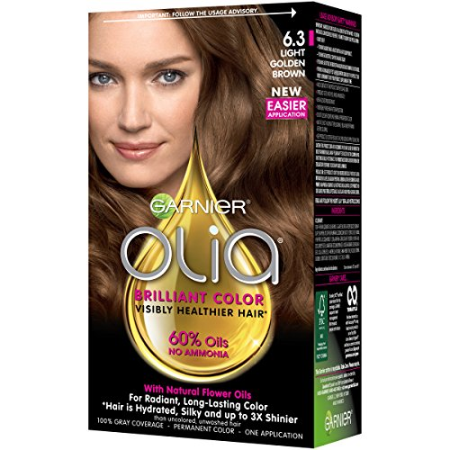 Garnier Olia Hair Color, 6.3 Light Golden Brown, Ammonia ...