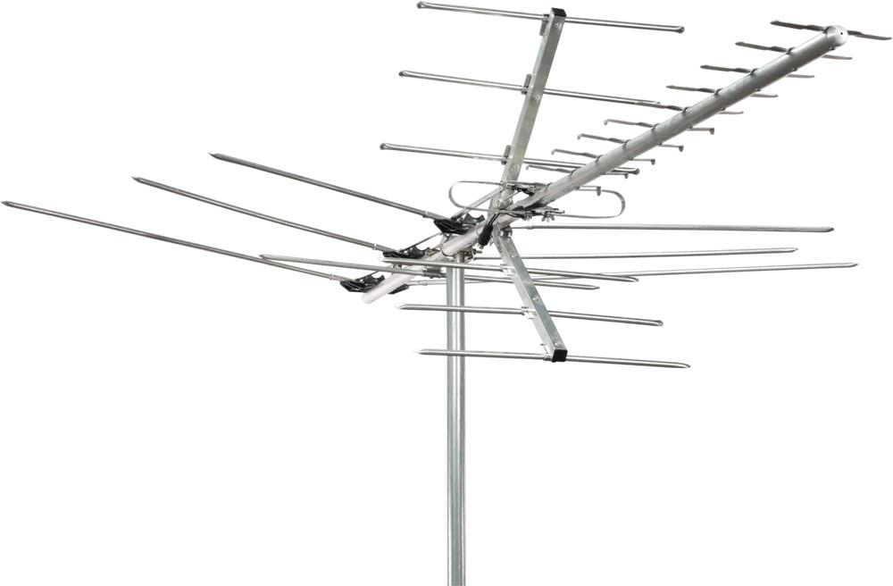 Channel Master Digital Advantage Directional Outdoor TV Antenna - 60 Mile Range High VHF, UHF and HDTV Aerial - Install Outside or Attic - CM-2018