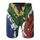 XTMZ Mens South Africa Flag Summer Beach Shorts Quick Dry Swimming Beach Trunks Surfing Household Shorts
