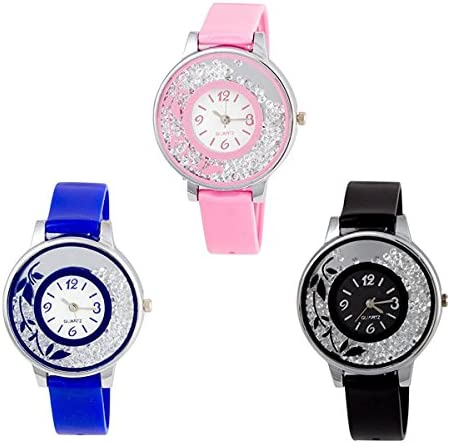 3c80e880b Buy just like Quartz Movement Analogue Multicolour Dial Women's Watch -  pd2241(Pack of 3) Online at Low Prices in India - Amazon.in