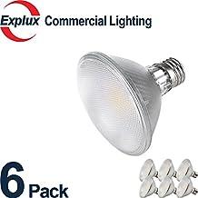 Full-Glass LED PAR30 Short Neck LED Bulbs, Dimmable Indoor/Outdoor 9.5W (75 Watts Equivalent) LED PAR30S Light Bulbs, Flood Light, 3000K Soft Warm White (Pack of 6)