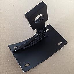 Curved Tag Holder Bracket For Suzuki Gsx-R Tl 1000R Gsx 1300R Hayabusa B-King Black