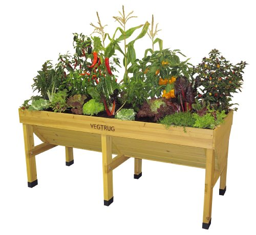 VegTrug VTNMD0367 1.8m Medium Wood Seater - Natural