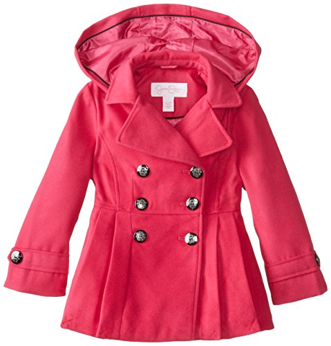 Jessica Simpson Little Girls'  Classic Peacoat, Pink, 4