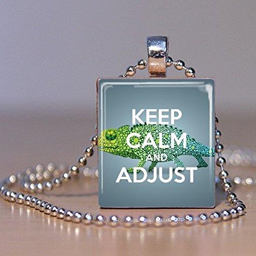 Adjust Scrabble Tile Pendant Necklace - Wearable Art Charm