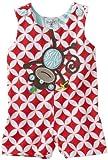 Safari Collection, Monkey Shortalls Set, 0-6 Months, Red/White