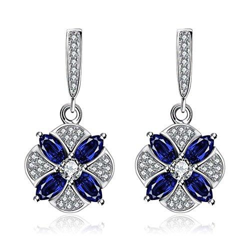 ARTLU® K zircon or commerce extérieur mode de vente motif classique zircon bleu boucles d'oreilles pour les dames et les femmes
