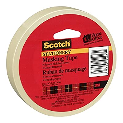 Scotch(R) Home and Office Masking Tape, 3/4-Inch x 60 YardsTan (3436)