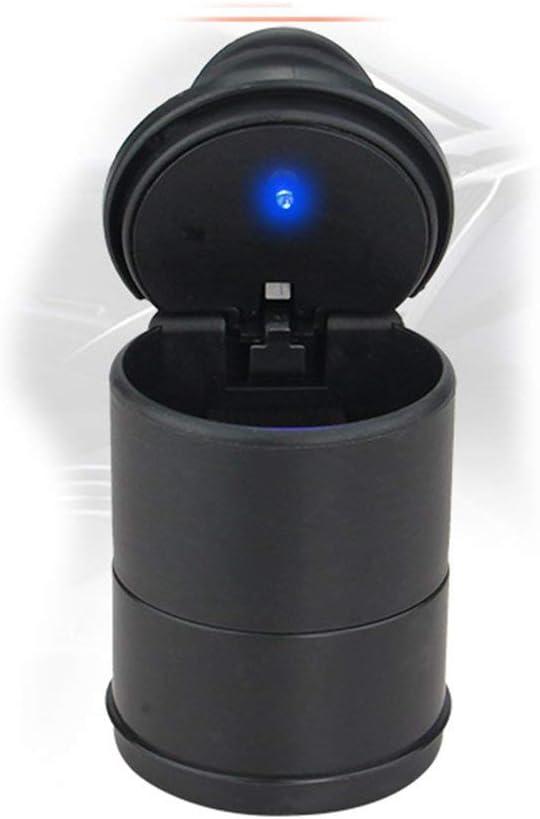 Hehilark Cendrier pour Voiture Cendriers Noir avec Couvercle Cendrier Cendrier