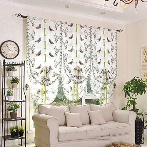 QinKingstore 刺繍カーテン蝶ネクタイ生地の高さの世帯実用的で耐久性のある