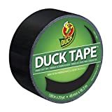 Duck Brand 1265013 Color Duct Tape, Black, 1.88