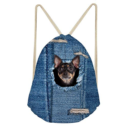 (Minature Pinscher Casual Shoulder String Bag for Ladies Workout Shopping?)