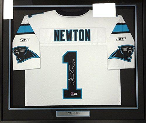 0bab0b168af Carolina Panthers Cam Newton Autographed Framed White Reebok Jersey