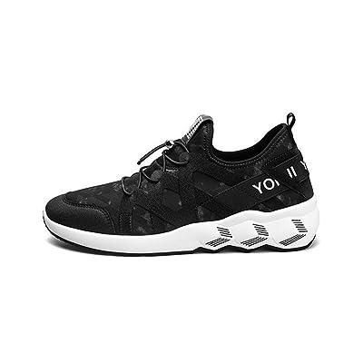 Chaussures pour hommes automne étudiant maille sneaker léger respirant Sports chaussures de loisirs pour la randonnée trekking camping , Black , 40