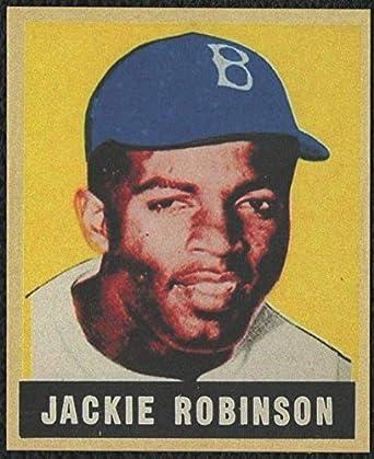 1949 Leaf 79 Jackie Robinson Rookie Card Brooklyn Dodgers Hof