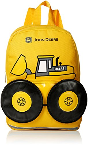 John Deere Boys' Little Kids Girls Toddler Backpack, CONSTRUCTION YELLOW, One Size