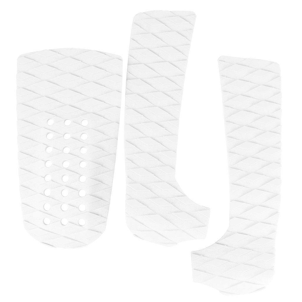 Homyl 3pcs/set di Anti-scivolo Pad Surf Pad Trazione Posteriore Surf Maniglie Lunghe Surf - Bianco