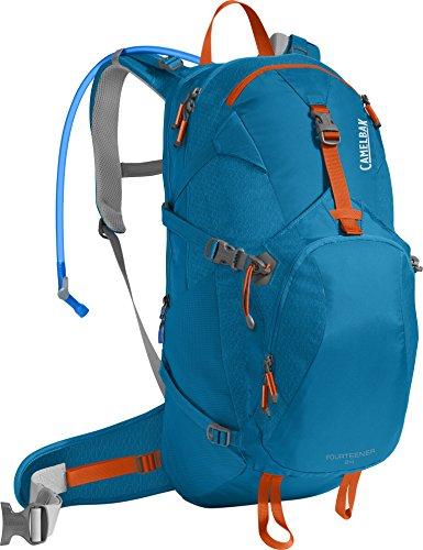 CamelBak Fourteener 24 Crux Reservoir Hydration Pack, Grecian Blue/Pumpkin, 3 L/100 oz