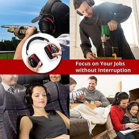 YueRan Noise Cancelling Ear Muffs Shooters Hearing Protection Safety Ear Muffs Adjustable Headband Ear Protection//Shooting Hearing Protector Earmuffs Fits Adults to Kids
