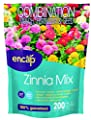 Zinna Mix from Encap - 4-in-1 Mix, Open-Pollinated, Non-GMO, with Instructions for Planting a Beautiful Garden