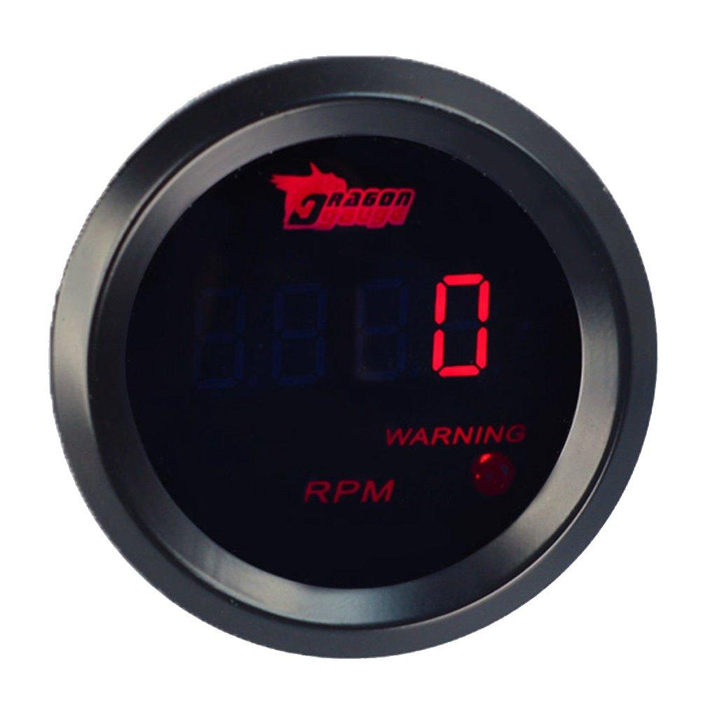 E Support™ 2' 52mm Auto KFZ Instrument Voltmeter Rot LED Anzeige Digital Batteriespannung