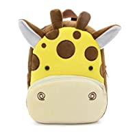 Cute Toddler Backpack Toddler Bag Plush Animal Cartoon Mini Travel Bag for Baby Girl Boy 1-6 Years (Giraffe)