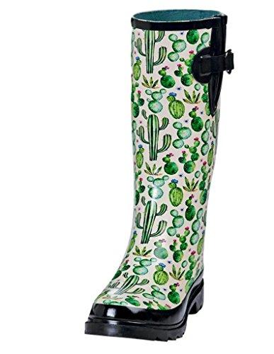 Round Multicolored Boots Rubber Cacti Women's Blazin Roxx Rain Toe xZwCq8tg
