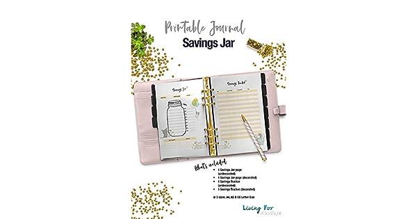 photo about Savings Jar Printable called Printable Magazine Financial savings Jar eBooks - A5 - A4 - US letter