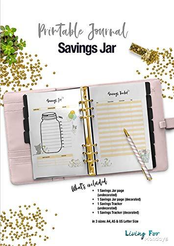 graphic relating to Savings Jar Printable identified as Printable Magazine Financial savings Jar eBooks - A5 - A4 - US letter