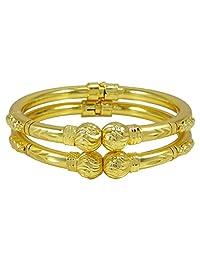 Banithani Ethnic Indian Gold Plated Traditional Kada Bracelet Bangles Jewellery 2*10