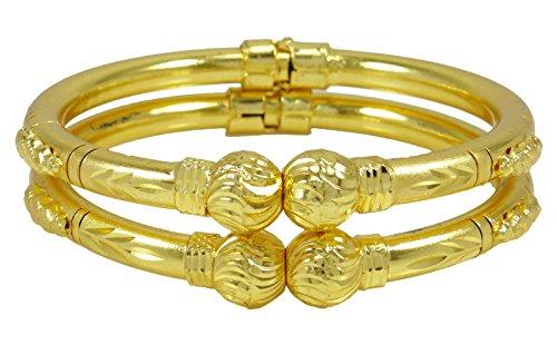 6c2da3877ab28 Banithani Ethnic Indian Gold Plated Traditional Kada Bracelet - Import It  All