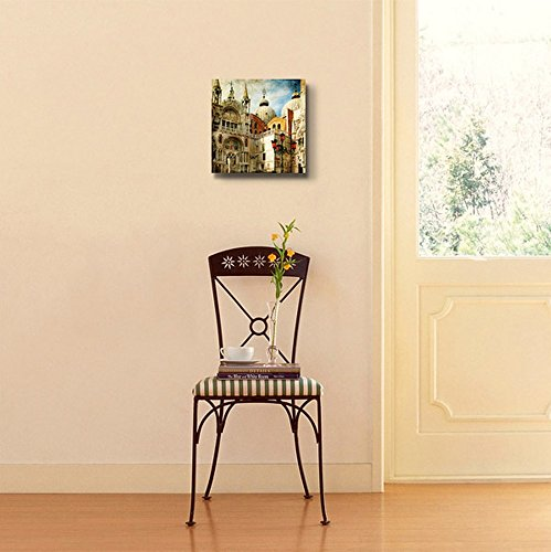 Beautiful Scenery Landscape Venice San Marco Square Painting Style Wall Decor