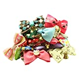 PET SHOW Lot Puppy Small Dog Bow Ties Pet Cat Bowties Collar for Wedding Party Grooming Accessories Pack of 100