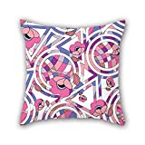 NICEPLW 20 x 20 inches / 50 by 50 cm flower throw pillow case,2 sides is fit for girls,birthday,shop,couch,boy friend,festival