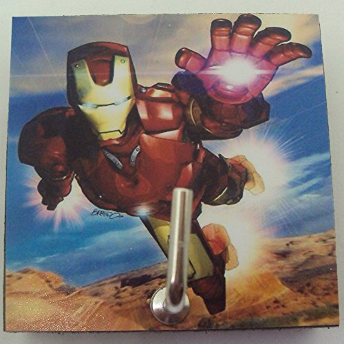 Agility Bathroom Wall Hanger Hat Bag Key Adhesive Wood Hook Vintage Iron Man Fly's (Simple Iron Man Costume)