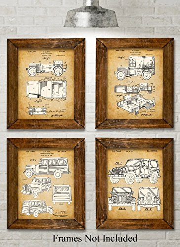 Original Jeep Patent Art Prints product image