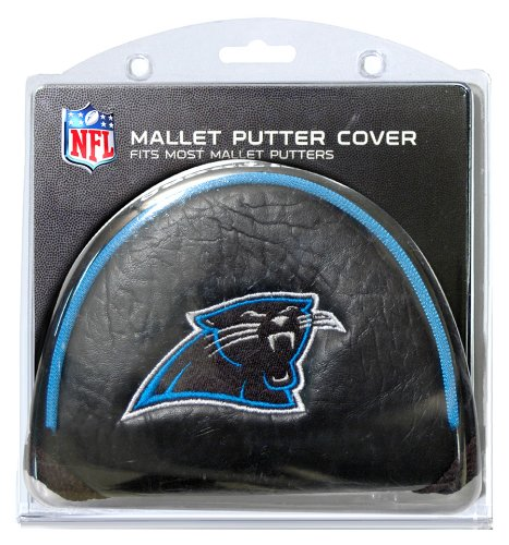 Team Golf NFL Carolina Panthers Golf Club Mallet Putter Headcover, Fits Most Mallet Putters, Scotty Cameron, Daddy Long Legs, Taylormade, Odyssey, Titleist, Ping, Callaway