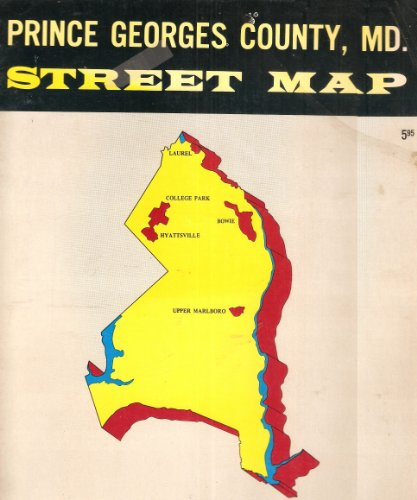 Prince Georges County, MD. Street - Airport Map Baltimore Of