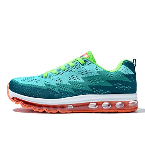 Running Shoes Sneakers for Men Mens Fashion Sports Outdoor Air Cushion Athletic Shoes Trainer Shoe Green