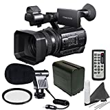 Sony HXR-NX100 w/ Starters Bundle: Includes Boom Mic, Spare Battery, UV Filter...