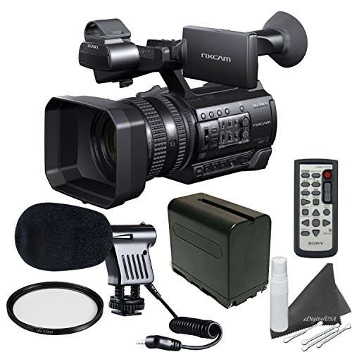Sony HXR-NX100 w/ Starters Bundle: Includes Boom Mic, Spare Battery, UV Filter... by eDigital USA