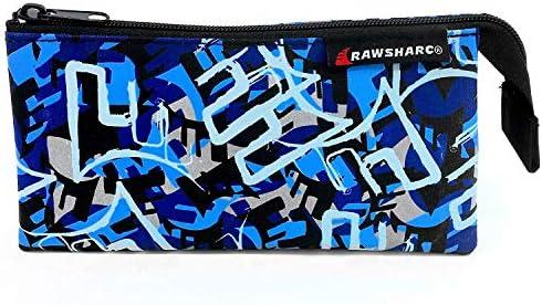 Helix - Rawsharc Urban Canvas Estuche - Tres Bolsillos - Camuflaje Azul: Amazon.es: Oficina y papelería