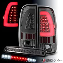 For 1999-2007 Ford F250/F350/F450 Super Duty Smoked Light-Bar LED Tail Lights + LED 3rd Brake Cargo 2000 2001 2002 2003