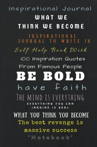 Book Cover Inspiration Quotes : Inspirational journal to write in