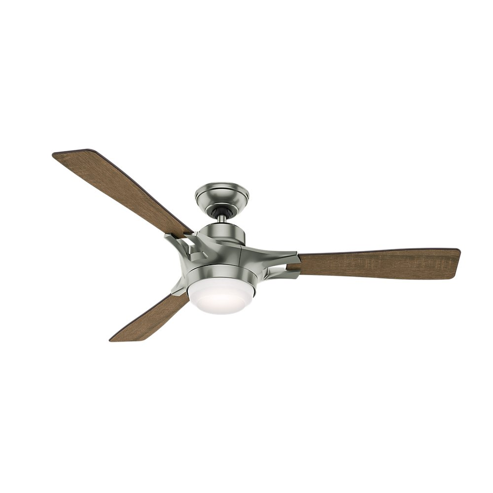 Hunter 59224 Signal Ceiling Fan With Wifi Capability 54 Inch Satin Light Wiring Harness Nickel Works Alexa