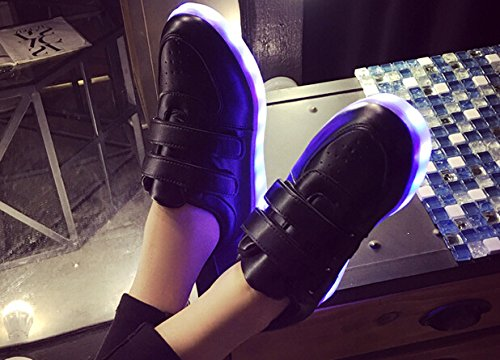 [Present:small towel]JUNGLEST® [2016 New Release] Mens Womens High Top USB Charging LED Light Up Sport Running Shoes Flashing Sneakers Tr c6 vudD25Op